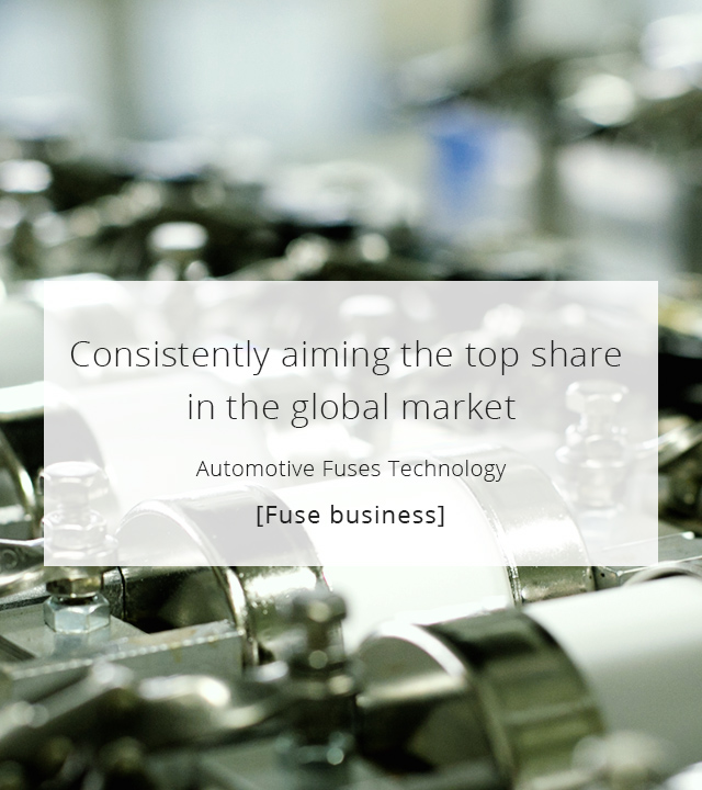 Consistently aiming the top share in the global market [Fuse business]